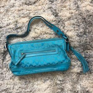 Blue Coach Handbag